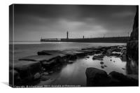 Whitby Pool, Canvas Print