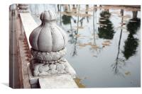 ornament and reflections, China, Canvas Print