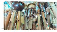 Wooden Wind Chimes, Canvas Print