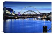 Newcastle Quay Side, Canvas Print