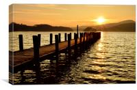 On Golden Pond - Coniston, Canvas Print