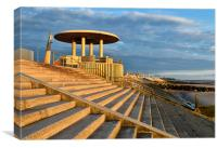 Golden Light on Cleveleys Promenade, Canvas Print