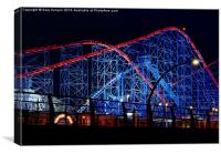 Pepsi Max Big One Roller Coaster Blackpool, Canvas Print