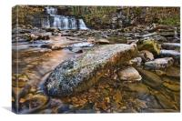 Cotter Force Waterfall Yorkshire, Canvas Print