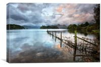Early Morning Sunrise At Derwentwater, Canvas Print