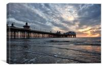 Sunset Sky Over North Pier, Canvas Print