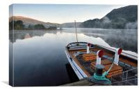 Misty Morning On Ullswater, Canvas Print