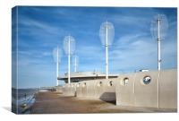 Pavillion Cafe Cleveleys Promenade, Canvas Print