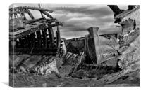 Abandoned Boats On The Banks Of The River Wyre, Canvas Print
