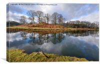 Reflections On The River Brathay, Canvas Print
