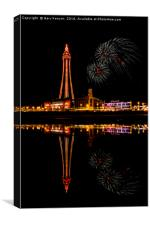 Blackpool Tower At Night, Canvas Print