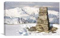 The Old Man Of Coniston Trig Point, Canvas Print
