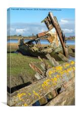 Abandonded Boats On The River Wyre, Canvas Print