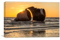 Marys Shell At Sunset, Canvas Print