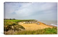 Botany bay from the cliff top, Canvas Print