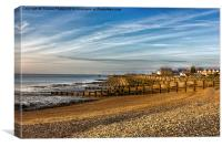 Whitstable Beach, Canvas Print