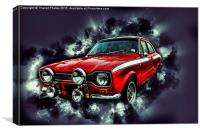 Ford Escort Mexico RS2000, Canvas Print