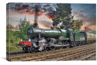 GWR Bradley Manor, Canvas Print