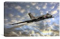 The Sun Sets on XH558, Canvas Print