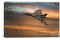 Avro Vulcan XH558 At Sunset, Canvas Print