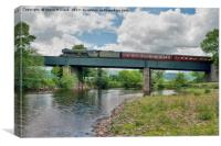 Flying Scotsman over the River Usk, Canvas Print