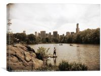 New York view., Canvas Print
