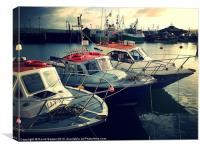 Boats in padstow harbour, Canvas Print