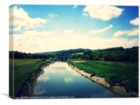 River Taw North Devon, Canvas Print