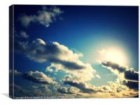 sky above north devon, Canvas Print