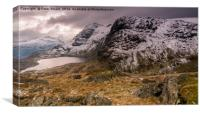 Thje Langdale Pikes, Canvas Print