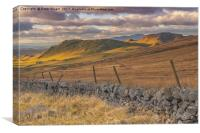 Sunset over Attermire Scar, Canvas Print