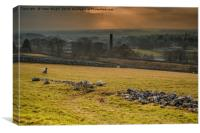 Settle from the High Rd, Canvas Print