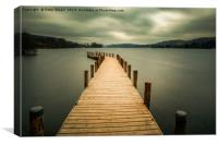 Monk Jetty on Coniston Water, Canvas Print