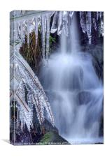 Waterfall and Ice, Canvas Print