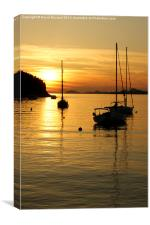Sunset In Cavtat, Canvas Print