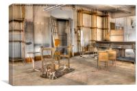 Abandoned Sewing Factory, Canvas Print