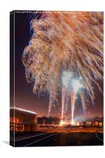 Guy Fawkes Night Fireworks , Canvas Print