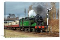Departure From Loughborough, Canvas Print