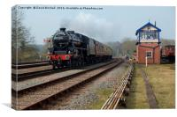 Black Five at Swithland Box, Canvas Print