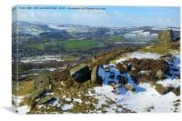 Curbar Edge, Derbyshire, Canvas Print