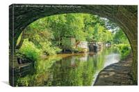 Hebden Bridge Towpath., Canvas Print
