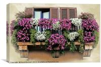 A Balcony in Rome, Canvas Print