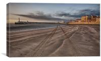 Margate beach in the evening, Canvas Print