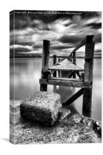 Culross Pier, Canvas Print