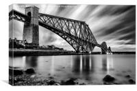 Forth Rail Bridge Black & White, Canvas Print