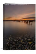 Aberdout at Sunset, Canvas Print