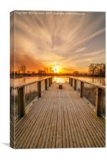 Sunrise at Larbert Loch, Canvas Print