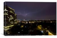 Lightning over KL, Canvas Print