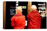 Young Monks, Canvas Print