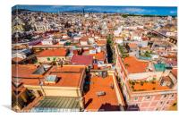 Barcelona roof tops, Canvas Print